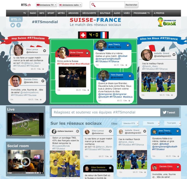match CH-FR social page