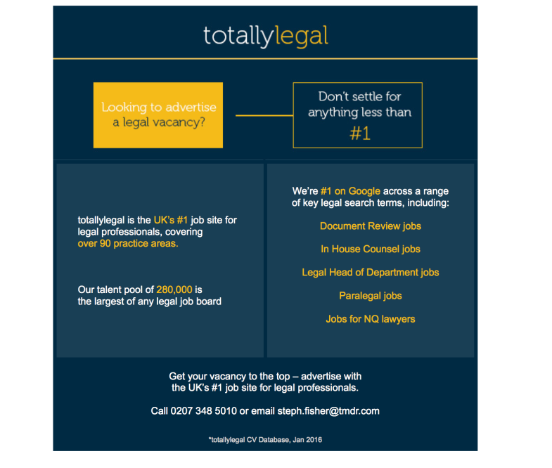 totallylegal solus email - January 2016